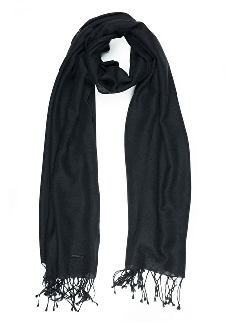 Silk and Cashmere Şal Siyah